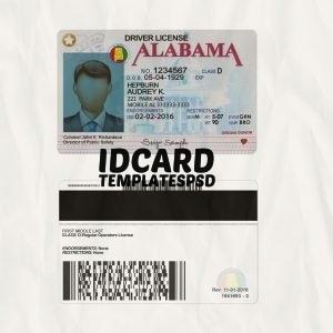 Alabama Driver License psd
