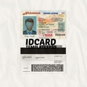 arizona drivers license templates psd