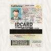 Califonia drivers license templates psd