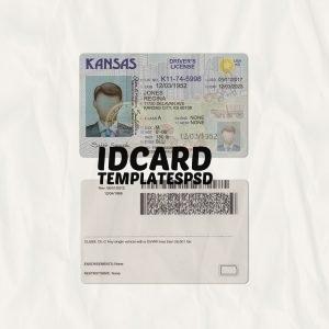Kansas drivers license templates psd