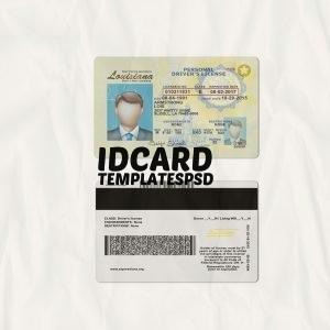 Louisiana drivers license templates psd