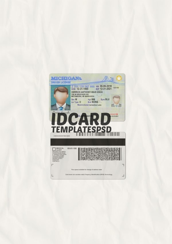 michigan drivers license psd
